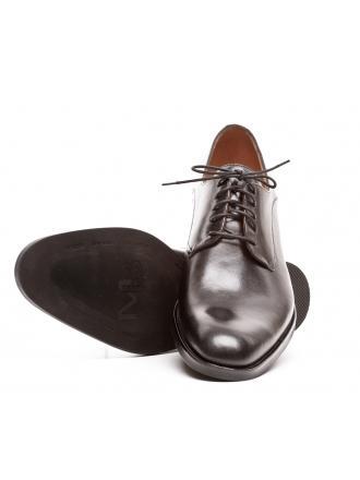 Półbuty Męskie NORD Kolekcja Maybach XXL Czarny Skóra Duży Rozmiar 01 9112 B999