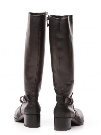 Kozaki Włoskie FABI Czarne Skórzane 14 FD9851