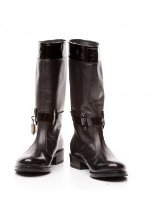 Kozaki Włoskie FABI Czarne Skórzane 14 FD9943