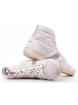 Sneakersy Włoskie Janet Sport Skórzane Białe 19 31875 F114