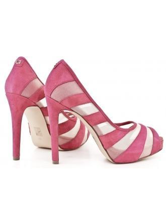 Szpilki Damskie GUESS Różowe Zamszowe 22 HAID FL2AID SUE07 PINK