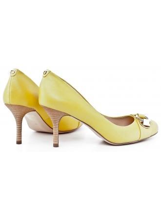 Czółenka Damskie GUESS Skórzane Żółte 22 JELISA FL2JLI LEA08 YELLO