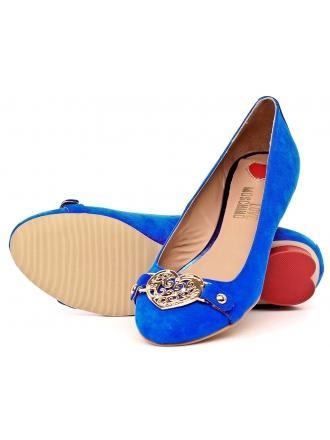 Balerinki Damskie Love Moschino Niebieskie 25 JA1109 705