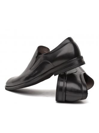 Półbuty Pantofle Męskie NORD Kolekcja Maybach Czarne Skórzane 01 9339 B999