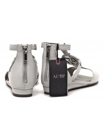 Sandały Damskie Armani Jeans Skórzane Białe 30 A5553 37 1D White