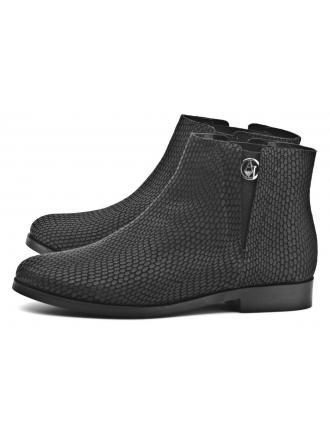 Sztyblety Damskie Armani Jeans Czarne Imitacja Skóry Węża 30 B5514  13 12 BLACK