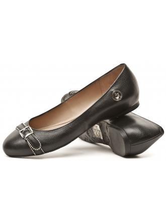Balerinki Skórzane Damskie Armani Jeans Czarne 30 B5593 28 12 Black