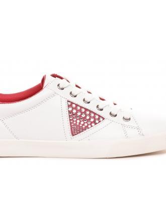 Półbuty Damskie GUESS Sportowe Biało Różowe P 22 FLLIN1LEA12 PINK