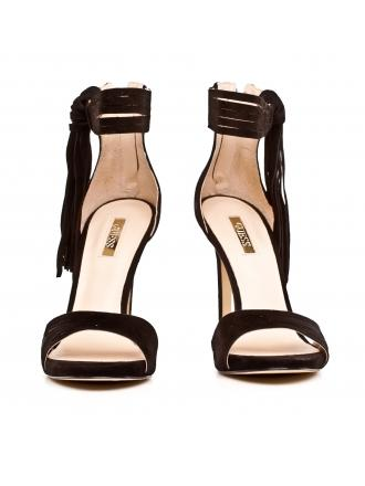 Sandały Damskie Na Szpilce GUESS Czarne Skórzane AIDA 22 FLAID2 SUE03 BLACK