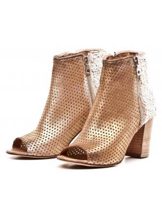 Sandały Damskie Venezia Złote Skórzane 04 SOFY 12 BI MI