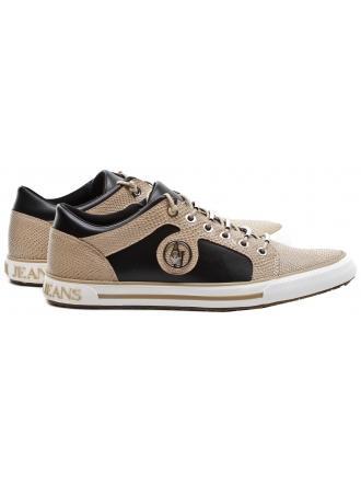 Sneakersy Damskie Armani Jeans Beżowe 30 925007 6A428 00322 NERO/BEIGE