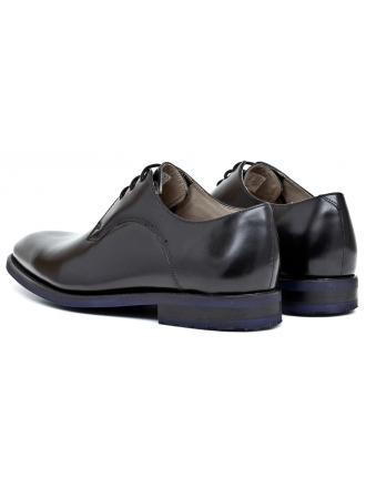 Półbuty Męskie Clarks Czarne Skórzane 23 Swinley Lace 261197797 Black Leather