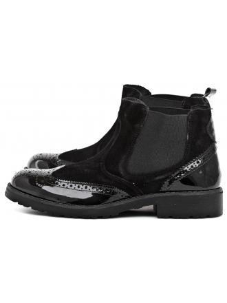 Sztyblety Damskie IMAC Czarne Skórzane 40 63011 4130 / 011 BLACK