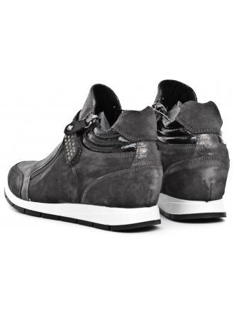 Sneakersy Damskie IMAC Szare Skórzane 40 63381 7170 / 018 DARK GREY