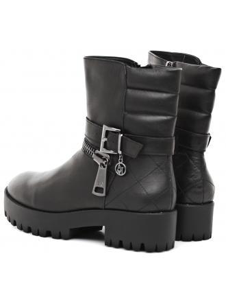 Botki Damskie Armani Jeans Czarne Skórzane 30 925032 6A415 00020 NERO