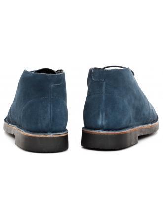 Trzewiki Męskie Armani Jeans Granatowe Skórzane 30 935056 CC510 09936 BLUE GRAPHITE