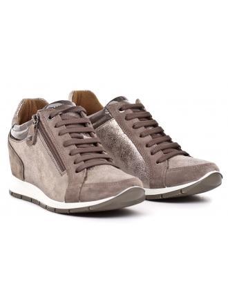 Sneakersy Damskie IMAC Brązowe Skórzane 40 63371 72106/017 TAUPE / BROWN