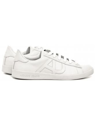 Sneakersy Męskie Armani Jeans Białe Skórzane 30 935565 CC500 00010 BIANCO