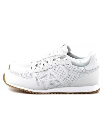 Sneakersy Męskie Armani Jeans Białe Skórzane 30 935027 7P423 00010 BIANCO
