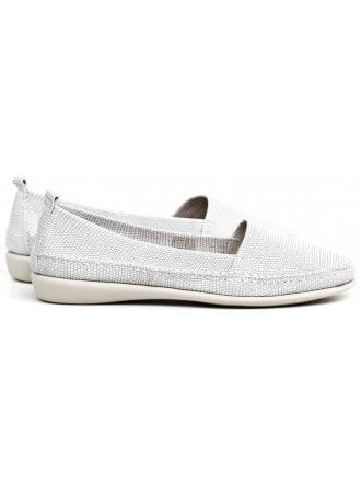 Espadryle Damskie THE FLEXX Srebrne Skórzane Mr. Softy A101/06 WHITE 50