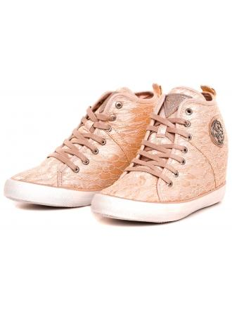 Sneakersy Damskie GUESS Brzoskwiniowe JOLIE FLJIL1 LAC12 BEIGE