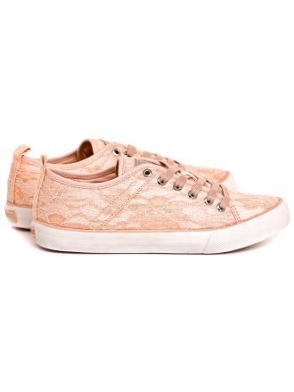 Sneakersy Damskie GUESS Brzoskwiniowe JOLIE FLJLI1 LAC12 BEIGE