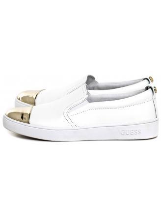 Sneakersy Damskie GUESS Białe Skórzane GLORIENNE FLGNN1 LEM12 WHITE