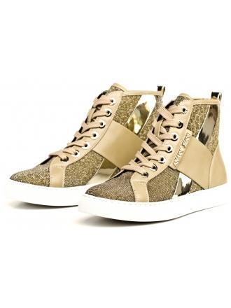 Sneakersy Damskie Armani Jeans Beżowo Złote 30 925168 7P566 06250 LIGHT BEIGE