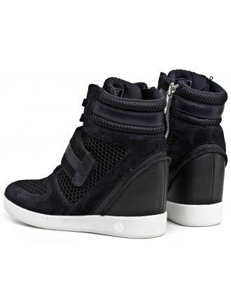 Sneakersy Damskie Armani Jeans Granatowe 30 925170 7P561 31835 DARK NAVY