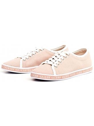 Sneakersy Damskie GUESS Pudrowy Róż LEDA 22 FLLED2 FAP12 NUDE