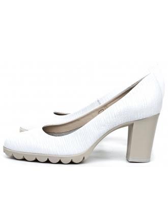 Czółenka Damskie The Flexx Białe Skórzane Diplo Matic A701/17 White