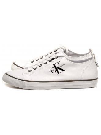 Sneakersy Męskie Calvin Klein Jeans Białe Arnold S0369 White