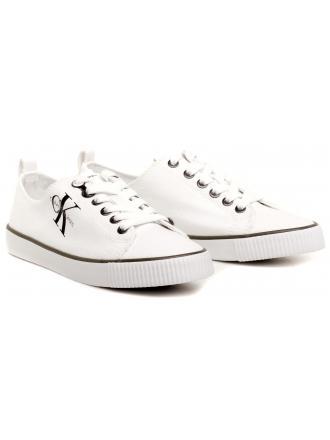 Sneakersy Damskie Calvin Klein Jeans Białe Dora R3556 White
