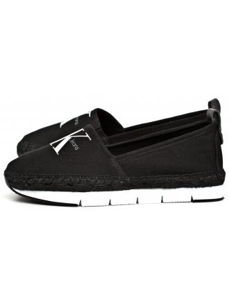 Espadryle Damskie Calvin Klein Jeans Czarne Genna R3768 Black