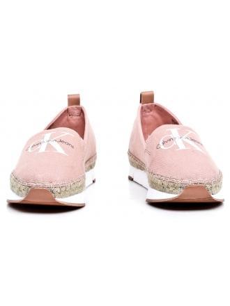 Espadryle Damskie Calvin Klein Jeans Pudrowy Róż Genna R3768 Dusk
