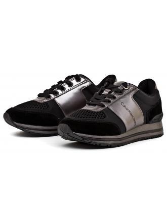 Sneakersy Damskie Calvin Klein Jeans Czarne Tanya R0651 BLACK/PEWTER