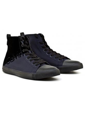 Sneakersy Męskie Calvin Klein Jeans Granatowe Ajax S0495 Indigo/Black
