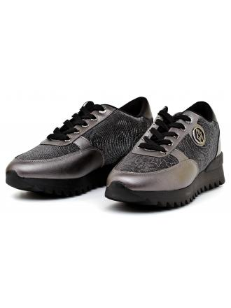 Sneakersy Damskie Armani Jeans Grafitowe 30 925014 7A674 00020 NERO