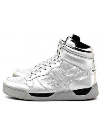 Sneakersy Męskie Armani Jeans Srebrne 30 935115 7A431 00017 ARGENTO