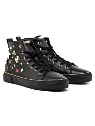 Sneakersy Damskie GUESS Czarne GARBILLE 22 FLGAR3 ELE12 BLACK