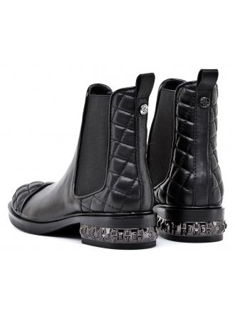 Sztyblety Damskie GUESS Czarne Skórzane HEBA 22 FLHEB3 LEA09 BLACK