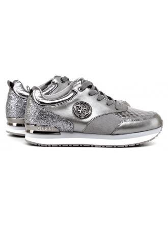 Sneakersy Damskie GUESS Srebrne RIMMA 22 FLRIM3 LEA12 PEWTE