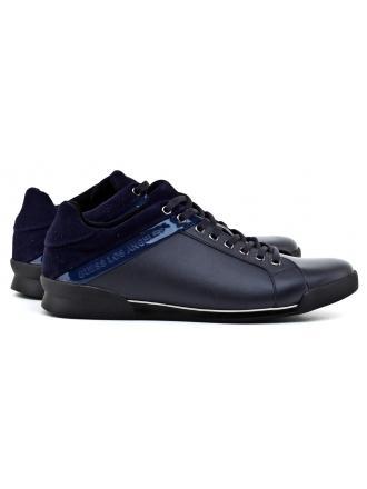 Sneakersy Męskie GUESS Granatowe Skórzane GEORG 22 FMGE3 LEA12 BLUE
