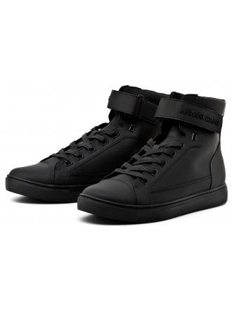 Sneakersy Męskie Armani Jeans Czarne 30 935043 7A402 00020 NERO