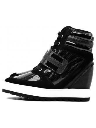 Sneakersy Damskie Armani Jeans Czarne 30 925259 7A656 00020 NERO