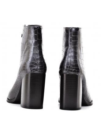 Botki Damskie Armani Jeans Grafitowe 30 925264 7A622 40820 GUN METAL