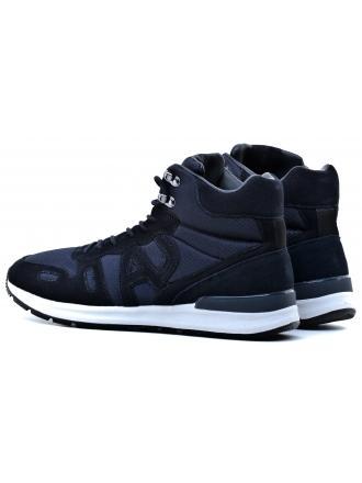 Sneakersy Męskie Armani Jeans Granatowe 30 935123 7A409 35435 DARK BLU