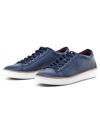 Sneakersy Męskie GUESS Granatowe Skórzane ETHAN FMETH4 LEA13 BLUE