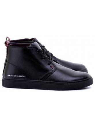 Sneakersy Męskie GUESS Czarne PABLO FMPAB3 ELE09 BLACK