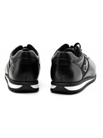Sneakersy Męskie Calvin Klein Jeans Czarne Chad Nappa S0499 BLACK